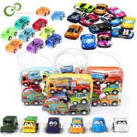 Mini coche de juguete de plástico para niños, modelo de vehículo divertido, juego de ruedas, regalo de cumpleaños, ZXH, 6 uds./10 uds.