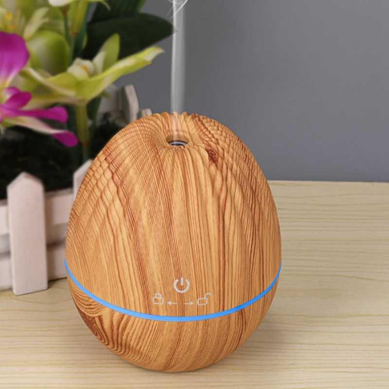 130ML Rugby USB Grain de bois diffuseur d'huile essentielle humidificateur à ultrasons maison aromathérapie arôme atomiseur avec LED