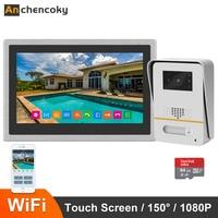 Anchencoky 10Inch Wireless WiFi Smart IP Video Door Phone Intercom System 1080P Wide Angle Doorbell Camera Support Remote unlock