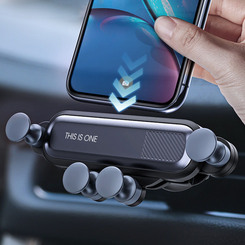 Zensime Gravity Car Holder For Phone In Car Air Vent Clip Mount No Magnetic Mobile Phone Holder Stand For IPhone XS MAX Xiaomi