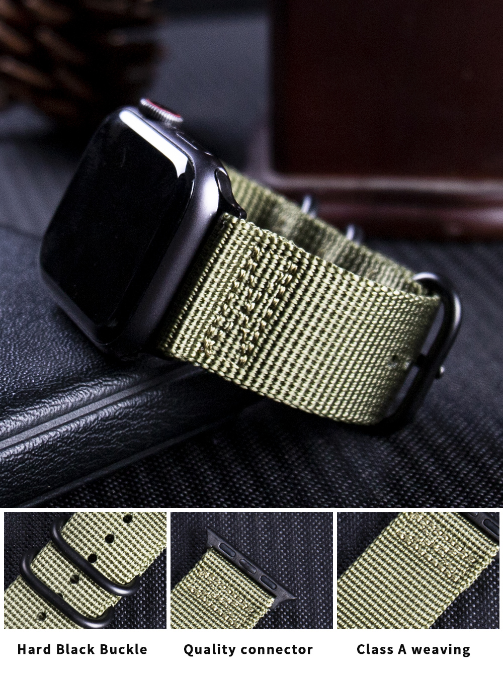 Nylon Fabric Band for Apple Watch 12