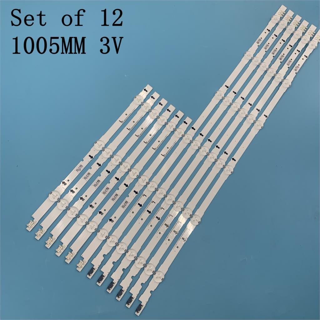 12 PCS/set LED Backlight Strip For LED TV UE48H6400 UE48H6200AK BN96-30453A BN96-30454A D4GE-480DCA-R3 D4GE-480DCB-R3 3V