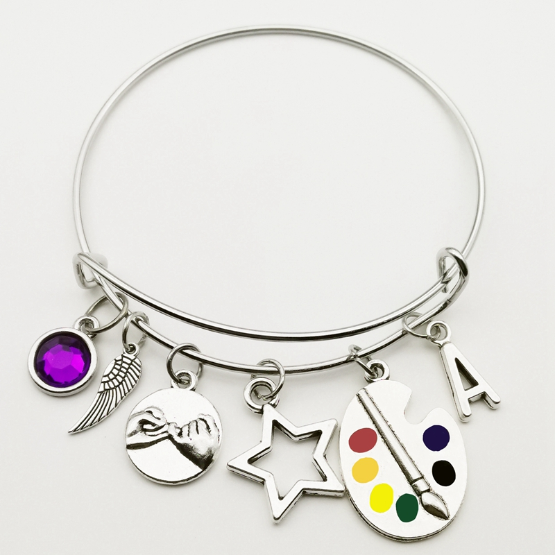 New A-Z Palette Bracelet Too Steel Bangle Artist Bracelet Wonderful Bright Artist Palette Bracelet