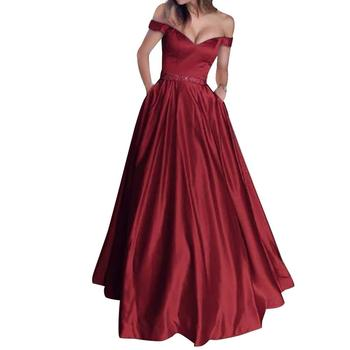 Autumn/Spring/Summer Women Sexy Solid Color V Neck Sleeveless Off Shoulder Evening Party Long Dress Fashion Women's Dress fashion trendy women dress solid color sleeveless sexy halter dress v neck casual loose chiffon dress for summer