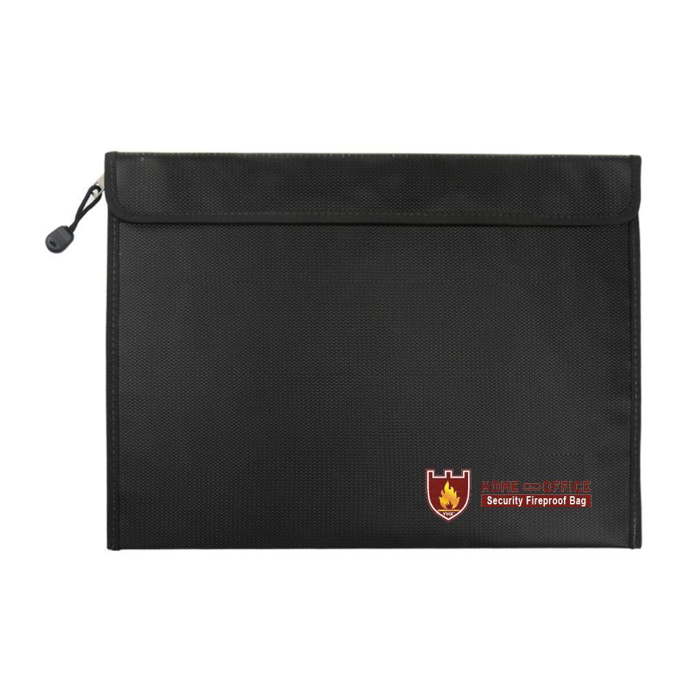 Fireproof Money Document File Bag Water Resistant Storage Case Organizer Holder