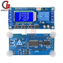 DC 6-30 в ЖК-цифровой таймер переключатель UART ttl Micro USB цикл реле времени задержки двухпозиционный уровень время запуска переключатель управления