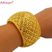 Adixyn Ball Shape Gold Bangle&Bracelet for Women Gold Color HiP hop Bangle Jewelry Dubai Middle east Bridal Weeding Gifts N01041