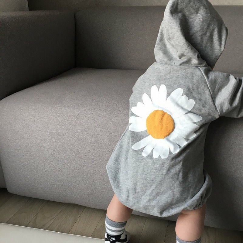 MILANCEL Korean New Style Baby Clothing Little Daisies Baby Bodysuit Infant Girls Boys Outfit Baby Suit