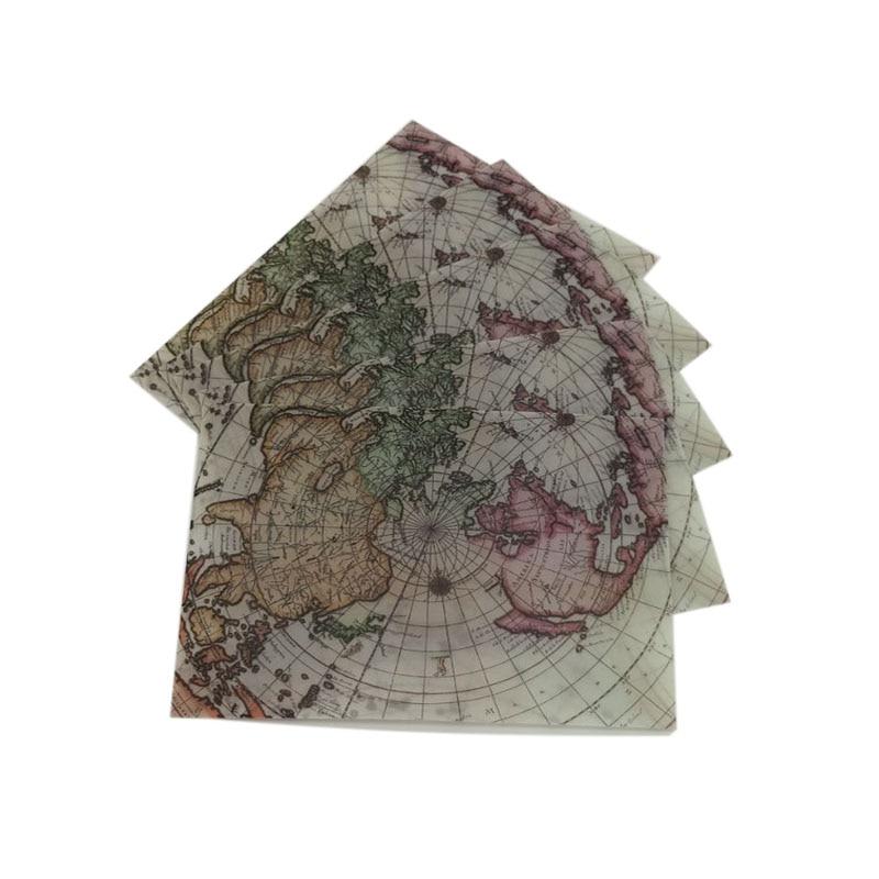 10pcs/lot Vintage Sulfuric Acid Paper Envelopes Globe Map Postcard Invitation Letter Card Paper Greeting Cards Sobres Invitacion