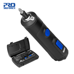 4V elektryczny miniśrubokręt zestaw USB akumulator inteligentny bezprzewodowy wkrętak elektryczny uchwyt z 32 + 1 zestaw części przez PROSTORMER|Wkrętaki elektryczne|Narzędzia -