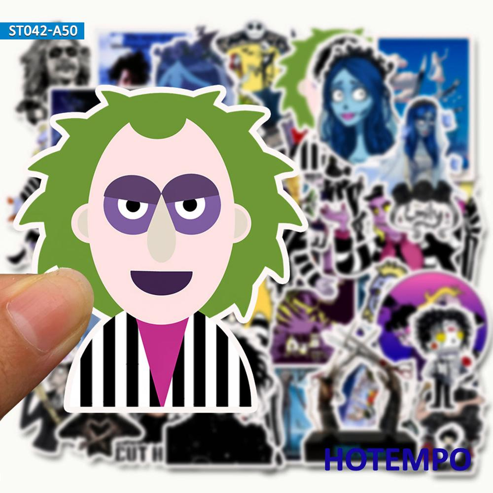 50PCS Tim Burton Classic Movie Graffiti Sticker For DIY Mobile Phone Laptop Luggage Suitcase SkateboardDecal Stickers