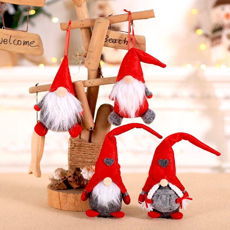 2020 Acrylic Christmas Tree Hangers Hanging Decorations DIY Pendants Xmas Gifts