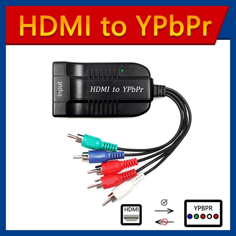 Scaler HDMI в RGB компонент 5 RCA YPbPr видео + R/L 1080P аудио конвертер адаптер ТВ ПК