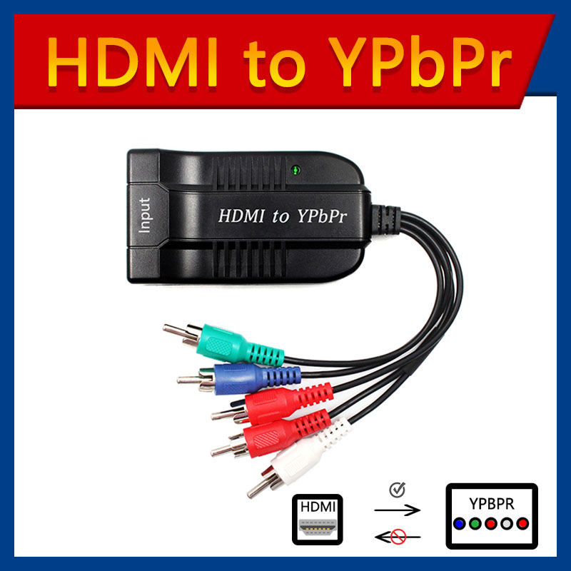 Scaler HDMI to RGB Component 5 RCA YPbPr Video   R L 1080P Audio Converter Adapter TV PC