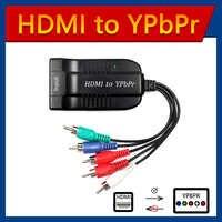Scaler HDMI zu RGB Component 5 RCA YPbPr Video + R/L 1080P Audio Converter Adapter TV PC