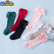 Wecute 2019 Autumn and Winter Baby Socks Knee High Cotton Spanish Style Big Bow Floor Socks Kids Socks For Boys Girls 0-3 years