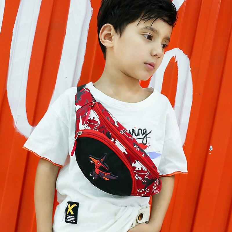 Cute Cartoon Dinosaur Kid Waist Bag For Girl Boy Fashion Fanny Pack Chest Bag Children Belt Bag Money Pouch Zipper Waist Pack