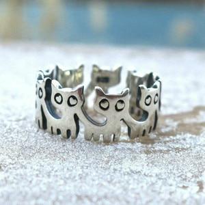 CHUHAN Cute Silver Color Cat R