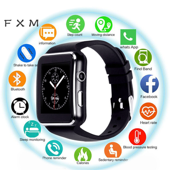 X6 Smart Watch Men Support SIM TF Card  Camera Smartwatch Bluetooth Dial with Camera Touch Screen for IPhone Xiaomi Android IOS