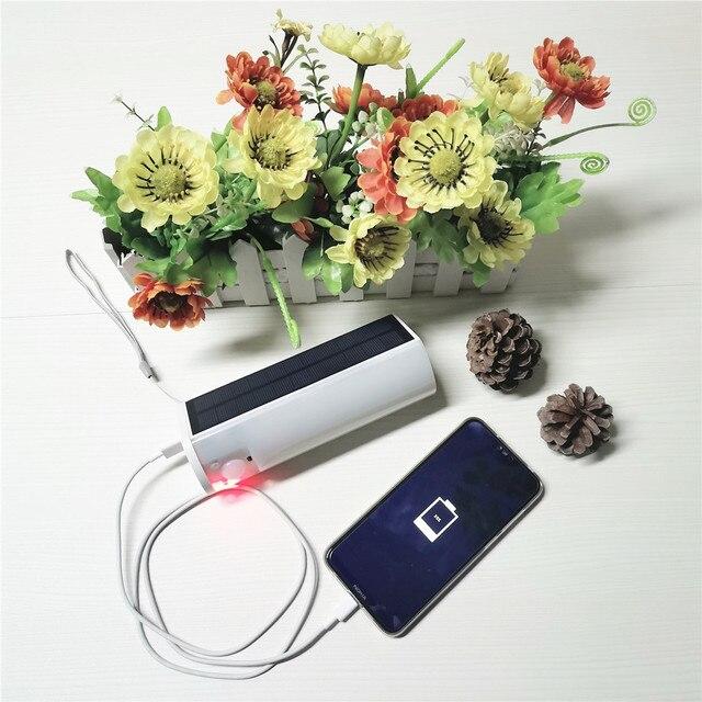 Portable LED Solar Light Outdoor/Indoor Soptlight Sensor Motion Light Waterproof 4 Modes House Camping Tent USB Emergency Light 2
