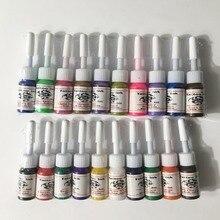 20pcs/7pcs set Professional Multi Colors Tattoo Ink Pigment Set Kits 5ml Beauty Makeup Paints Bottles Tools Body Art Accessory