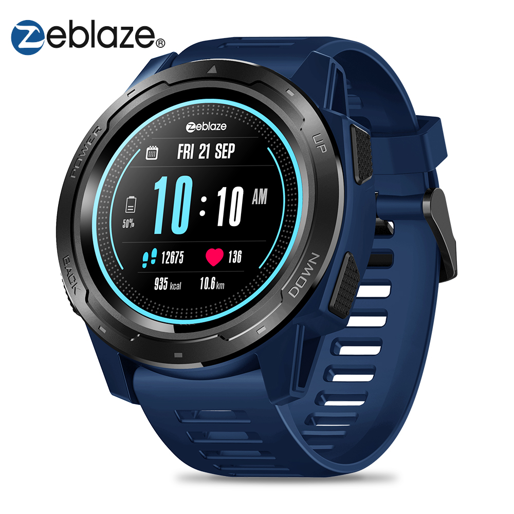 Zeblaze VIBE 5 Smart Watch Men 1.3 Color Screen Pedometer Fitness Bracelet Tracker IP67 Waterproof Heart Rate Monitor Smartwatch