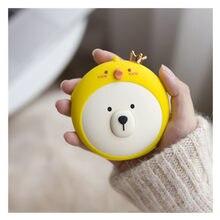 Urso bonito handwarmer inverno aquecedor portátil mini mão mais quente usb carregamento de energia móvel acessível aquecimento aquecedor de bebê quente