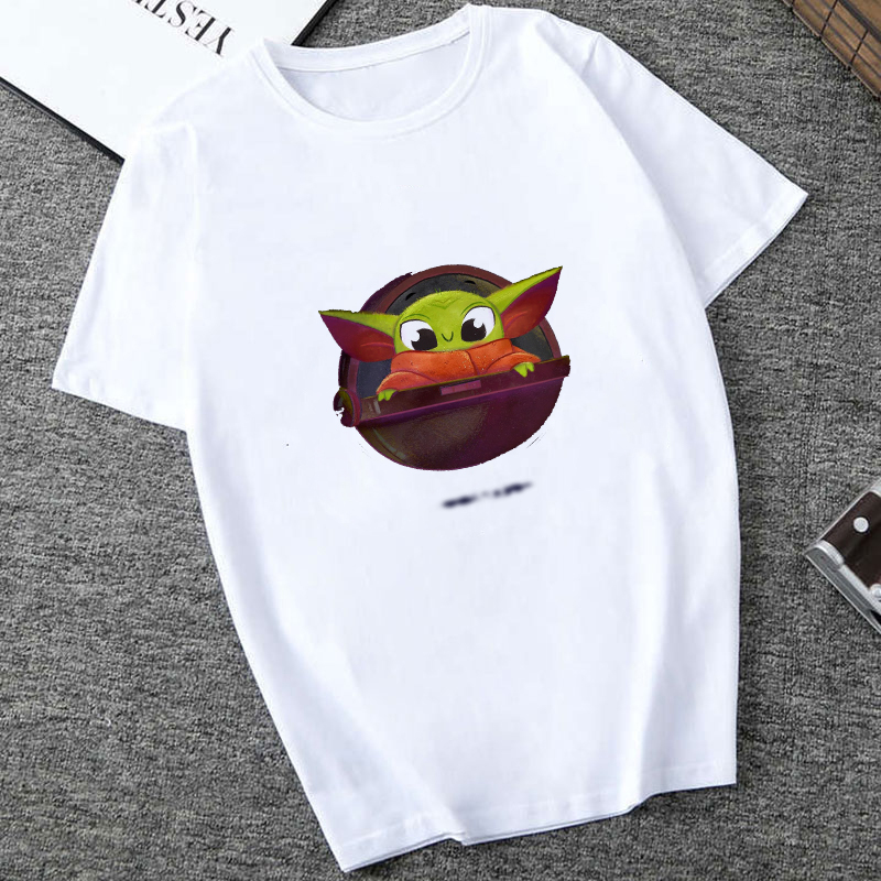 Showtly  2019 The Mandalorian Baby Yoda Sweatshirt Men/Women Star Wars TV Series T Shirt 90S Science Fiction Movies Tee Tops
