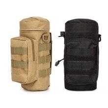 2 шт на открытом воздухе прочный мешок бутылки воды шестерни чайник поясная сумка для альпинизма Кемпинг походные сумки-желтый коричневый и черный