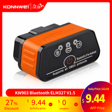 ELM327 OBD2 Scanner Auto Scanner Icar2 KONNWEI Bluetooth ELM 327 V 1.5 Auto Strumento di Diagnostica OBD 2 Scanner V1.5 Pic18f25k80 di Chip