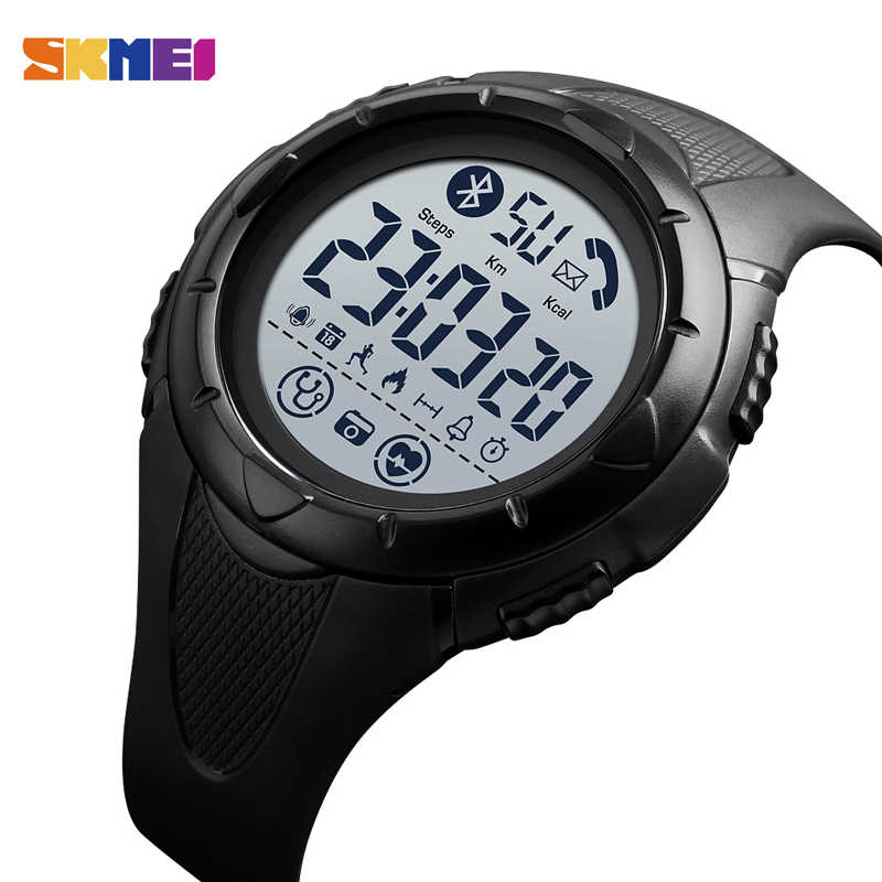 Mannen Smart Horloge Merk SKMEI Digitale Horloges Hartslag Sleep Monitor Smartwatch Waterdicht Horloge Android IOS Mannen Horloge