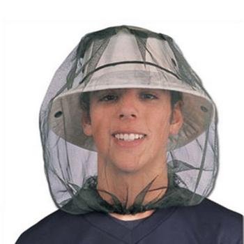 Kapelusz wędkarski Bug Mesh siatka na głowę ochraniacz na twarz podróż Camping czapka kapelusze odkryty czapka wędkarska Midge Mosquito Insect Hat tanie i dobre opinie Wiatroszczelna Stałe Rayon mosquito hat fishing cap fishing hat