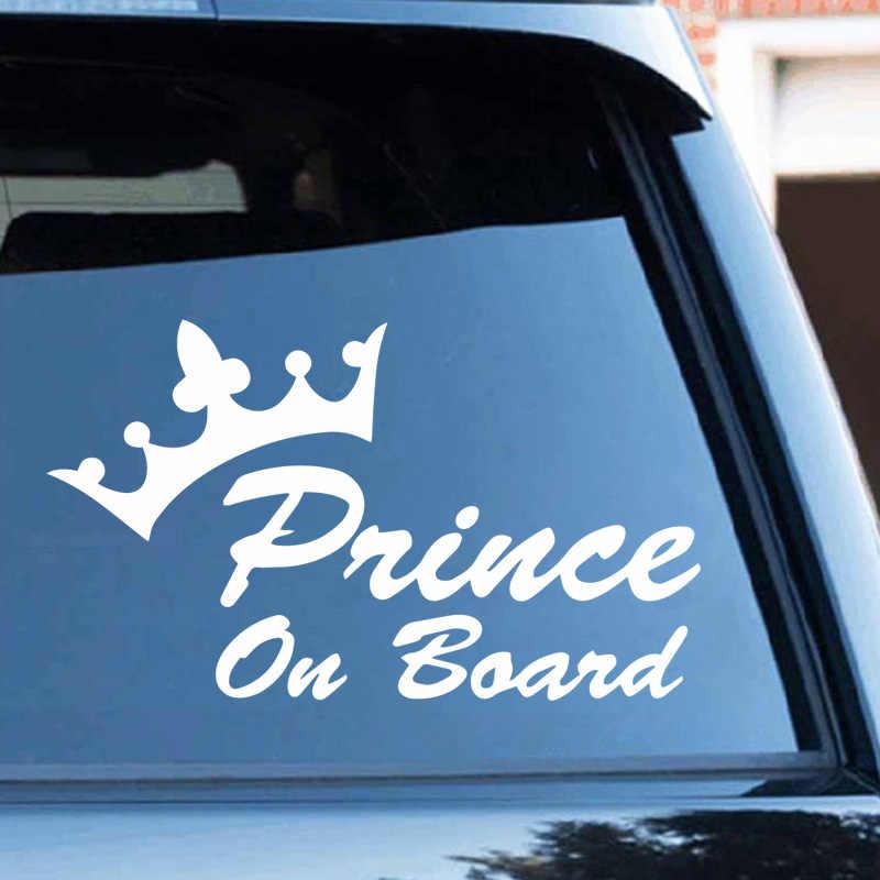 Vinil prens arabası araba Assessoires araba Styling için komik otomatik çıkartmalar ve çıkartmaları araba aksesuarları