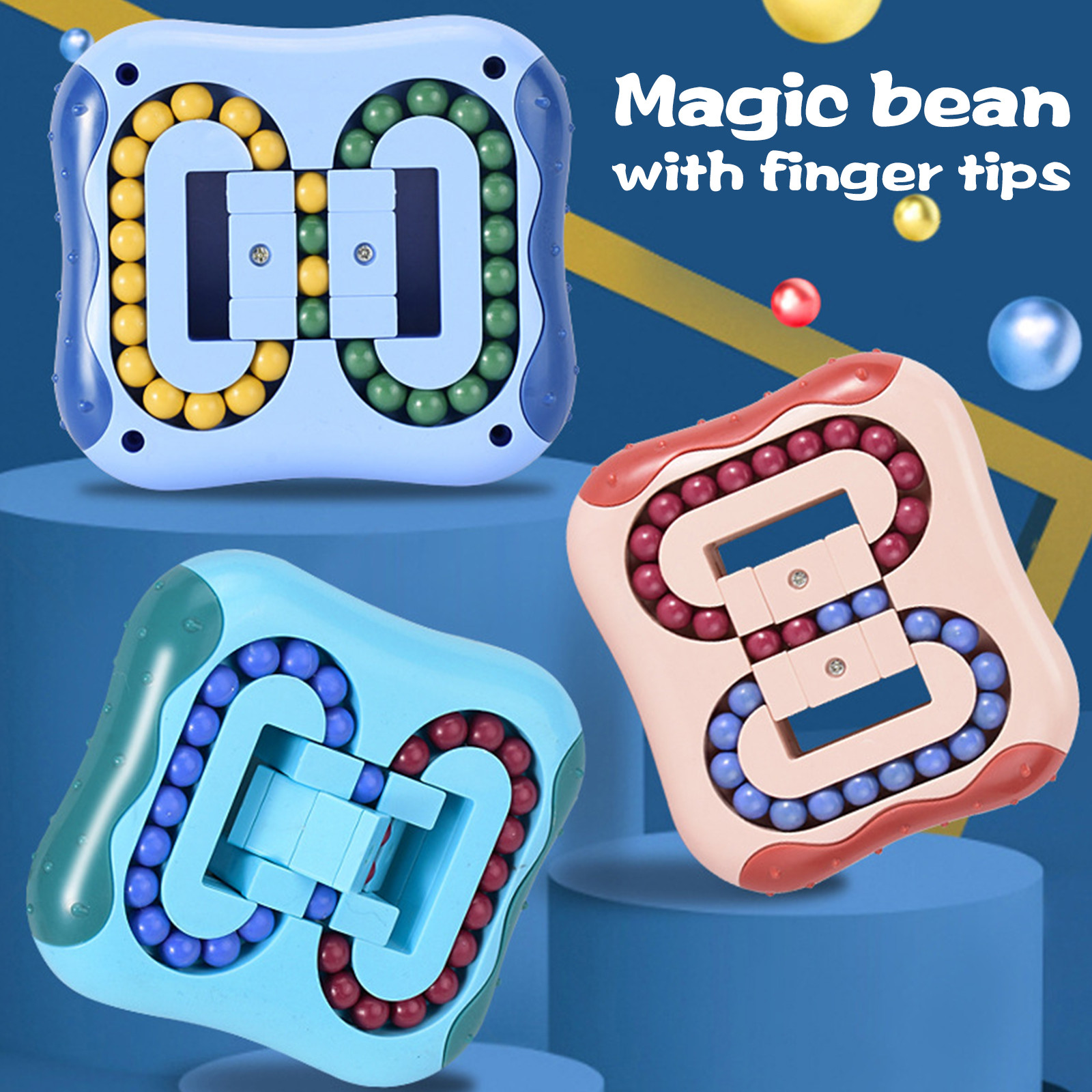 Toy Fidget Stress Decompression Magic-Beans Fingertip Rotating Spinning Relief-Toys