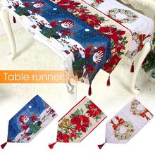 New High-quality Christmas Table Runner Decorative Tapestry Linen Printed Beautiful Tablecloth For Decorations