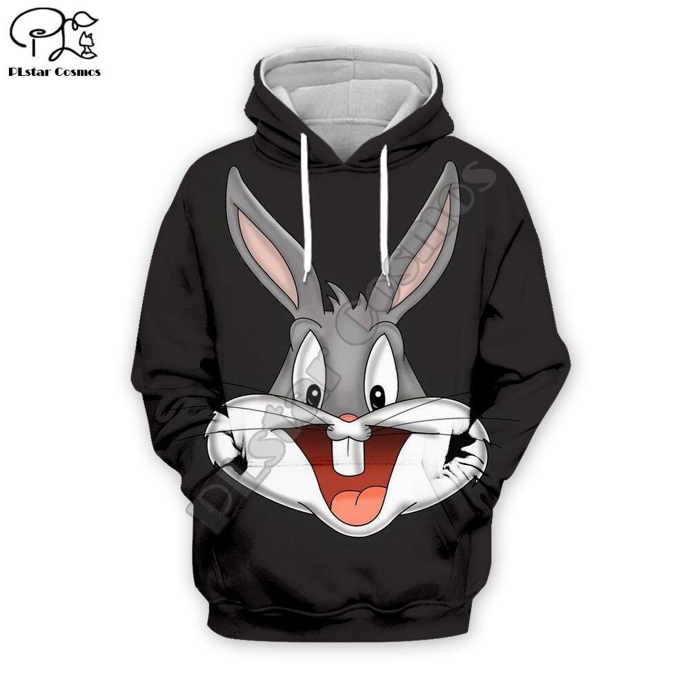 PLstar Cosmos Anime Bugs Bunny Colorful Cartoon Tracksuit Newfashion 3DPrint Hoodie/Sweatshirt/Jacket/Men Women Funny S-7