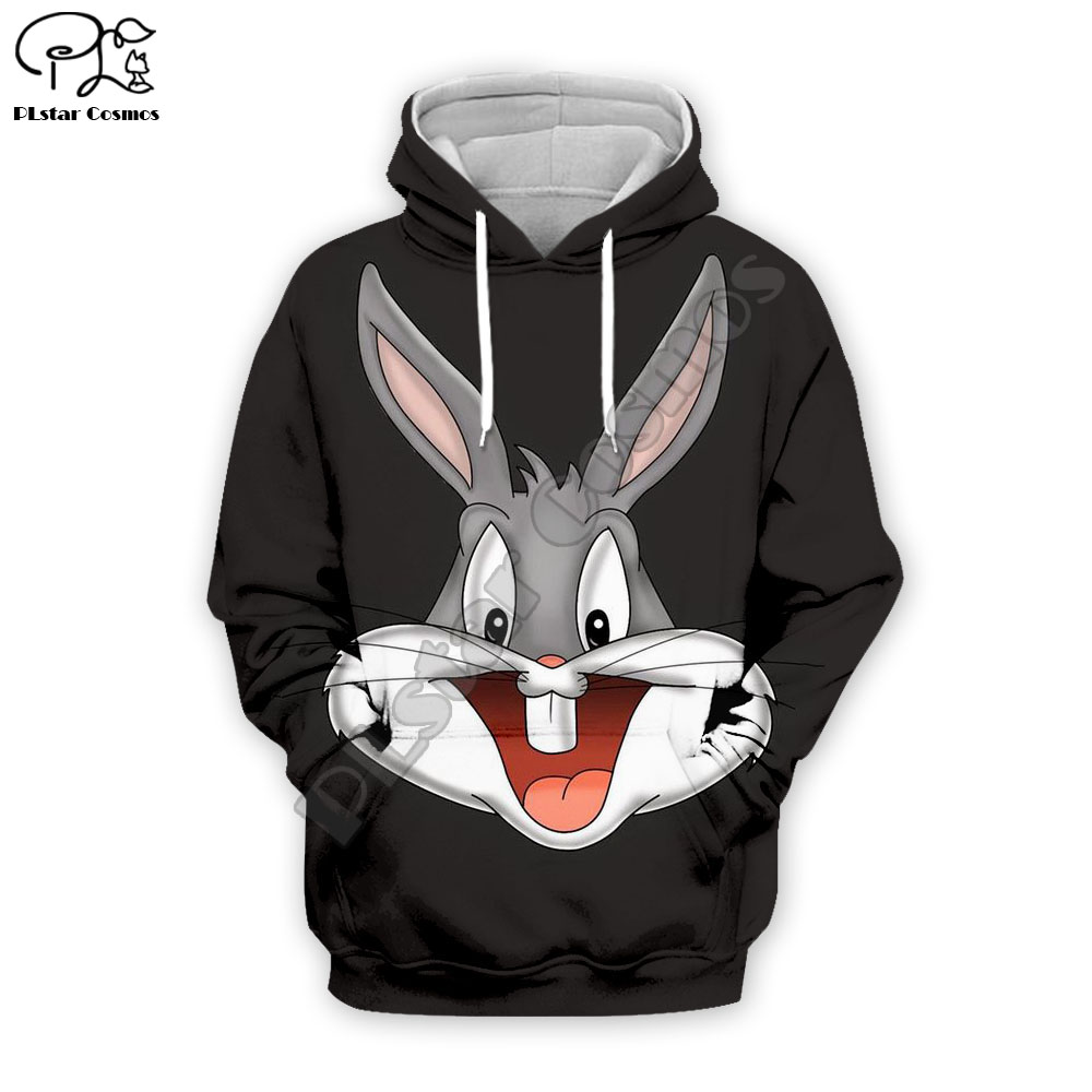 PLstar Cosmos Anime Bugs Bunny colorful cartoon tracksuit newfashion 3DPrint Hoodie/Sweatshirt/Jacket/Men Women funny s-7