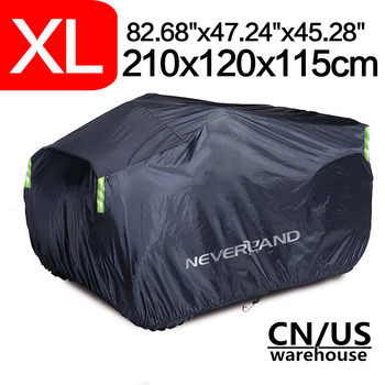 210x120x115cm XL 210D Waterproof Sun UV Dust Rain Snow Proof Motorcycle Cover Quad ATV Vehicle Covers Coat Protector XL car covers size s m l xl waterproof full car cover sun uv snow dust rain resistant protection gray free shipping