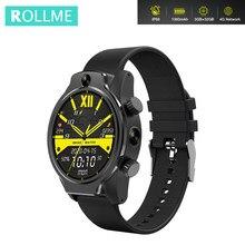 Rollme S08 akıllı saat 1.69 inç ekran MT6739 dört çekirdekli IP68 su geçirmez ön 8MP kamera yüz kimliği GPS 1360mAh 4G Smartwatch
