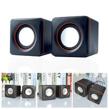1 Set Of Speaker (2Pcs) Mini Player Laptop Speaker Mini Portable Mobile Phone Mini Speaker Mini Portable USB Wired Audio