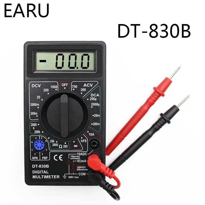 1SET LCD Digital Multimeter AC/DC 750/1000V Digital Mini Multimeter probe For Voltmeter Ammeter Ohm Tester Meter Voltage Current