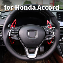 Aluminum Alloy Steering Wheel Shifting Disc Steering Wheel Gears For 10th Honda Accord 2018 2020 Interior Decoration Decorative new for power steering pump honda accord 2 4 56110 r40 a01 56110r40a01 56110raaa03 for honda power steering pump