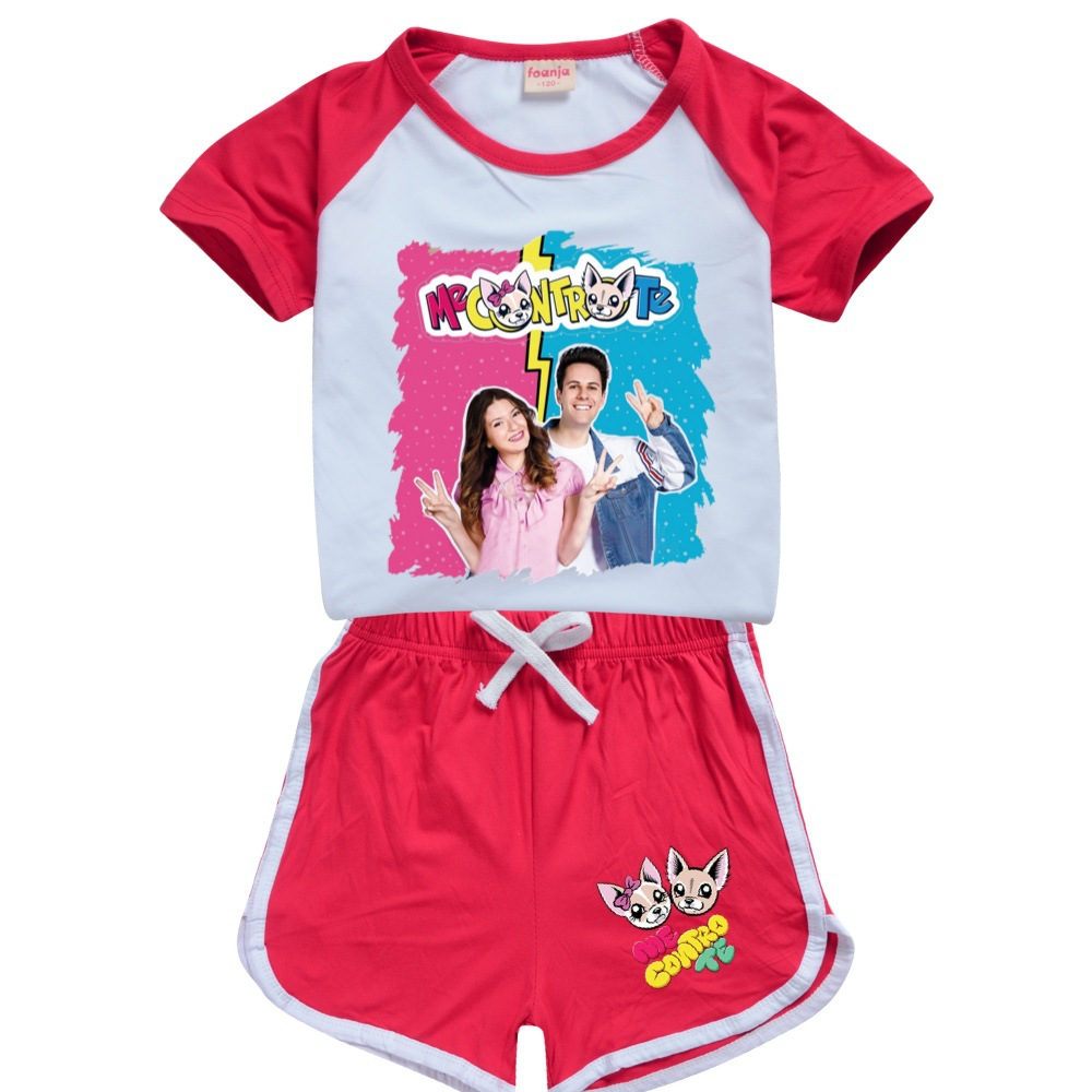 Teens Girls Outfitsme Boutique Kids Clothing Polyester Me Contro Te Kids Summer Boutique Clothing Boys Sport Shirt + Short Sets 4
