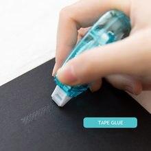 Minkys criativo 6mm * 8m ponto transparente dupla face fita rolo adesivo cola dispenser escola escritório artigos de papelaria acessórios