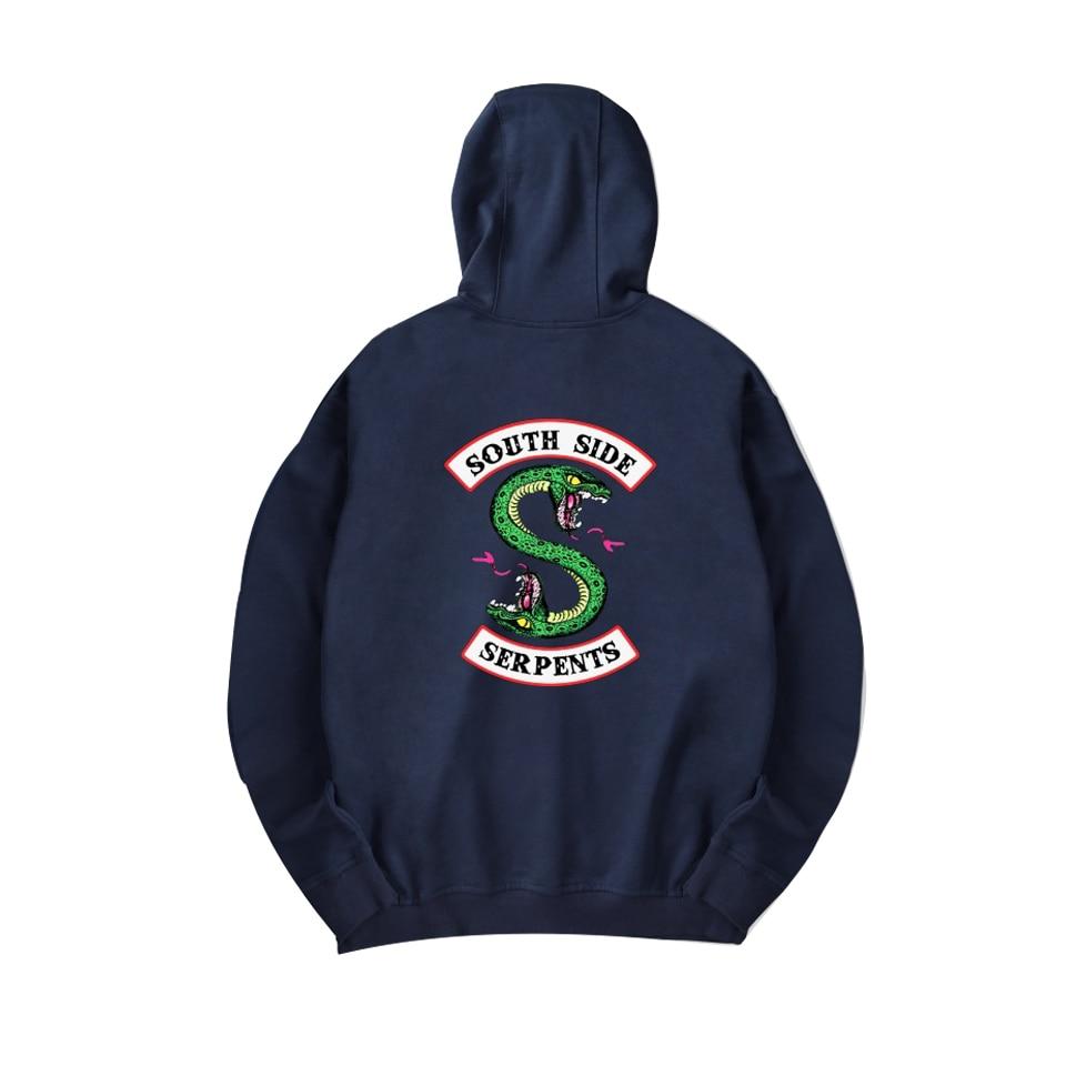 Riverdale Serpents Hoodie Men Women South Side Riverdale Southside Boys Girls Oversize Sweatshirts Pullover Hoodies Streetwear