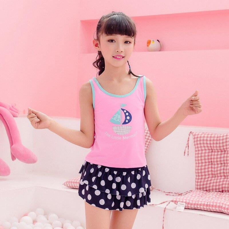 Split Type KID'S Swimwear Sweet Princess Dress-Boxers Sun-resistant Big Boy Swimwear Nt571001