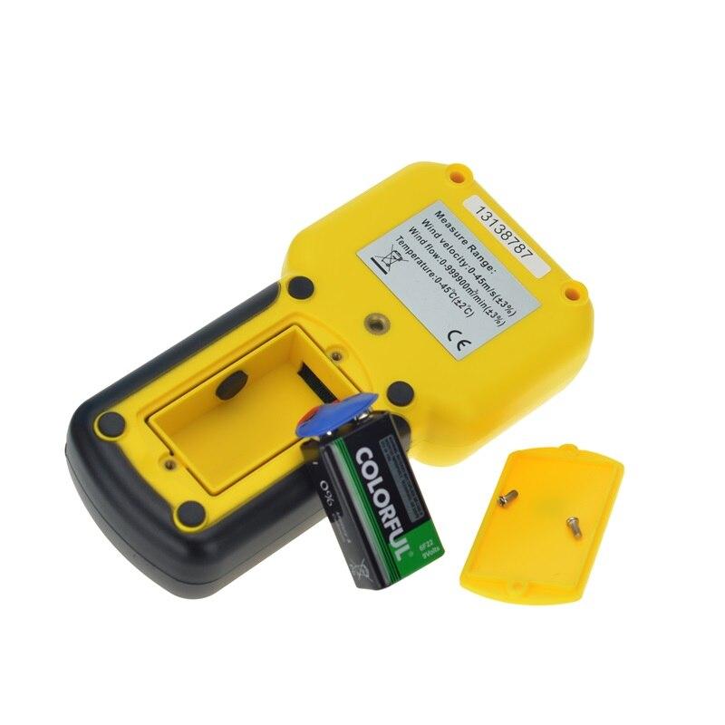 Anémomètre de HP-856A de HoldPeak de mètre de Volume d'air de vitesse de vent numérique USB/tenu dans la main avec l'enregistreur de données - 4
