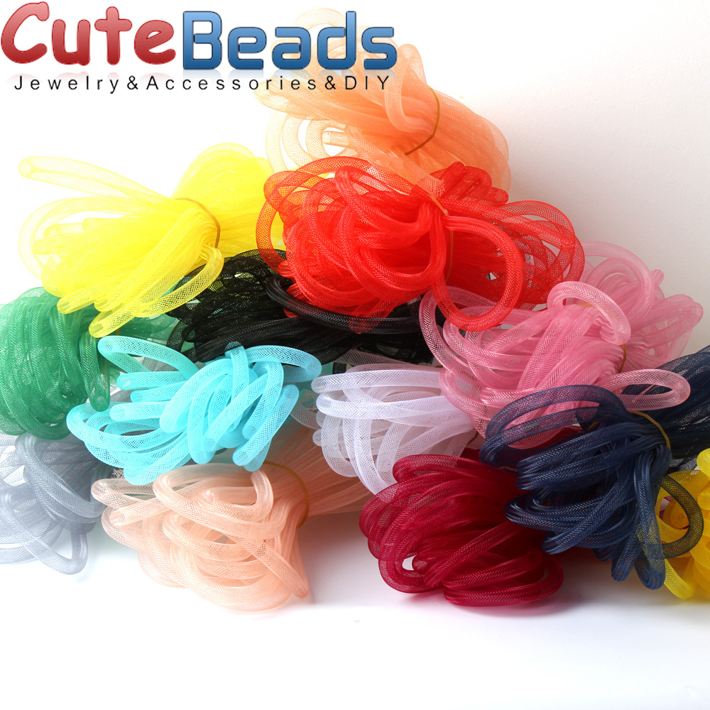 5M 8mm Mesh Bracelet Jewelry DIY Fitting with Crystal Filled Necklace Choker