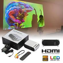 YG320 LED Projector Focus Lens 1080P 3D Visual 80-inch Screen Home Theater Intel