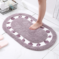Tapete oval de microfibra, tapete antiderrapante para banheiro, banheiro, banheira, lateral, piso do banheiro banheiro de alta qualidade
